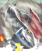 Challenging the Blizzard by BlackCalico