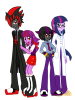 Equestria Girls Shadow and Twilight Sparkle Family by CyrilSmith