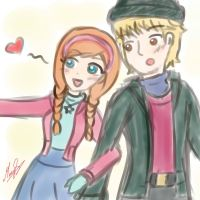 Anna and Kristoff in the Real World by SakuraPrincess11