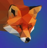 low poly fox II by Caen-N