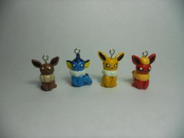 Eeveelution Charms by Sara121089