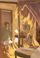 Jane Eyre Rochester in the Flames by floriflore