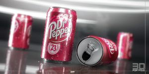 3D DrPepper Can by 3DPORTFOLIO