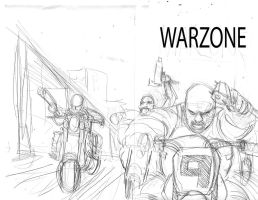 Warzone 3 Rough Pencils by ComicMunky