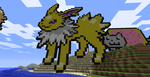 Minecraft Pixel Art - Jolteon by TinyDojo