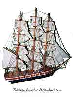 Pirate Ship Stock 6 by FairieGoodMother