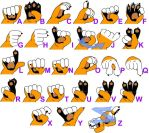 Finger Spelling Chart by Stamps