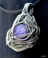 Wire Wrap Pendant Double Sided by Jwall805