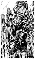 Spiderman on top of Gargoyle by CharlesHdez
