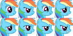 MLP Emotion set Rainbow dash by NeoBolt