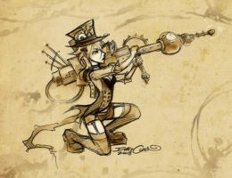 Concept: Steampunk Girl. by ghost