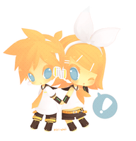 vocaloid: len and rin by kiri-chii