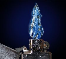 Zippo Water Flame by Hauns