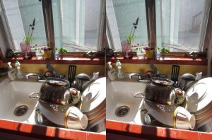 Stereograph - Dishes by alanbecker