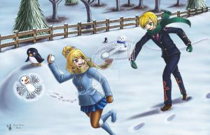 Fairy Tail-A Snow Day of Fun by Yunsildin