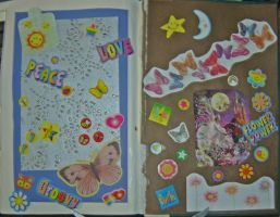 1st Altered Book 41, Favorites by angelstar22
