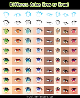 Different Anime Eyes by eruqi