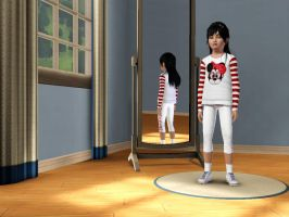 Sims 3 - Me in child form in everyday outfit 2 by Magic-Kristina-KW