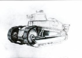 Renault FT-17 takes on the color by Cune