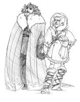 Jon and Ygritte by pixarjunkie