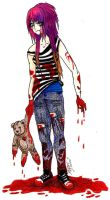 Gigi Zombie:: Request by TheBeautifulSniper