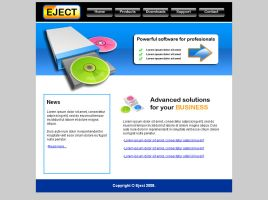 Software company web template by Player-Designer