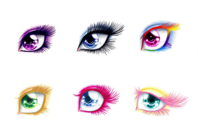 MLP Eyes - The Main Six by SilverWolf866
