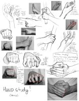 Hand Study err practice. by Bored-dood