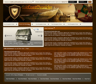 Webdesign: GoldCoastChronicles by shadow288