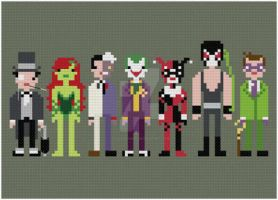Batman enemies cross stitch pattern by avatarswish