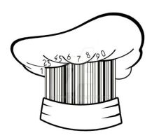 creative barcode chef hat by sethness
