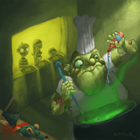Zombie cook by ALMAGOR