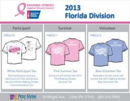 Making Strides Against Breast Cancer Tees 2013 by Saablym