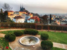 Brno - Spilberk view St. Peters Pavel Cathedral by bdx