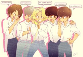 We are your boys by Pulimcartoon