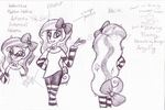 Halloween Pony Person - Design Process by SJArt117