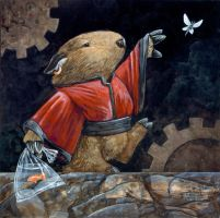 Wombat and Gears by ursulav