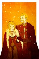 GoT - A golden and scarlet wedding by Rakiah