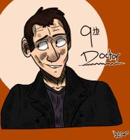 Doctor Who Fanart- 9th Doctor by LordOfThePugss