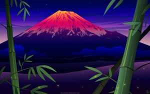 Sunset at Mt. Fuji by MissNysha