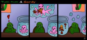 Tum-Tum and Gordy - Sea Monster by DarkIcePrincess