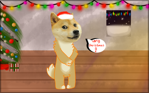 Doge Shibe wish you a very good christmas by Punk-Mutt