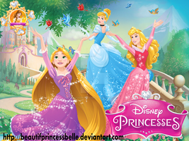 Disney Princesses - Day With Flying Friends by BeautifPrincessBelle