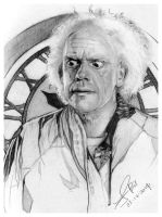 Emmett Brown by FinAngel