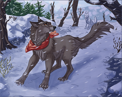 But maybe a wolf can - Balto by EliaOwl