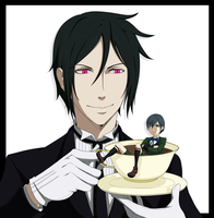 Black Butler - Tea (Color) by ShadowCutie1
