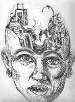 Right brain Left brain by surreal32