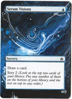 Magic Card Alteration: Serum Visions 7/8 3 by Ondal-the-Fool