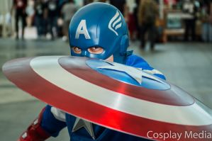 San Diego Comic-Con 2013 Captain America by CosplayMedia