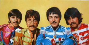 the beatles HAND PAINTED by benw99